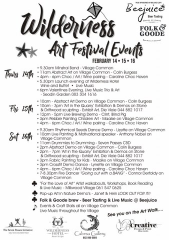Wilderness Art Festival Events 2019