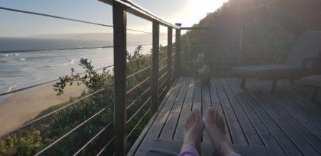 Outside balcony of Luxury Azure Villa in Wilderness