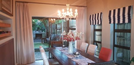 Dining Area at the Luxury Villa in Wilderness