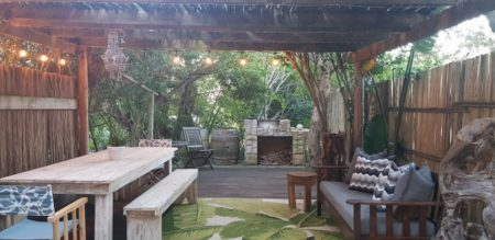 Outside BBQ or Braai Area at the Luxury Villa in Wilderness